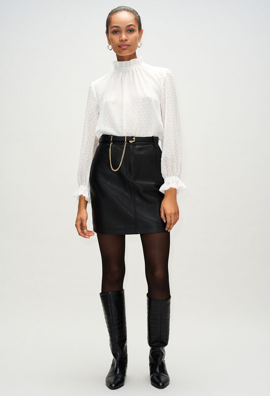 CLEYAH19 : Faldas y pantalones cortos color NOIR