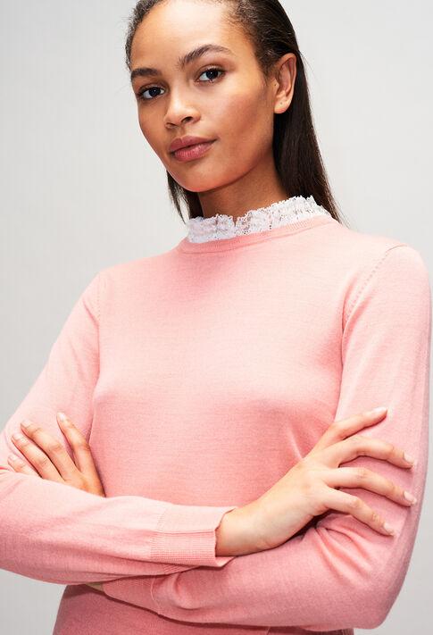 MIRAGEBisH19 : Jerseys de punto y sudaderas color ROSE PECHE