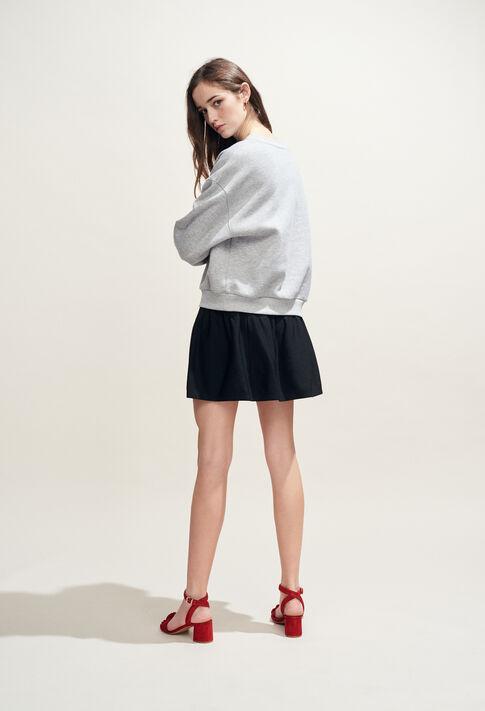 TRUDIE : Mailles & Sweatshirts couleur Gris Chine