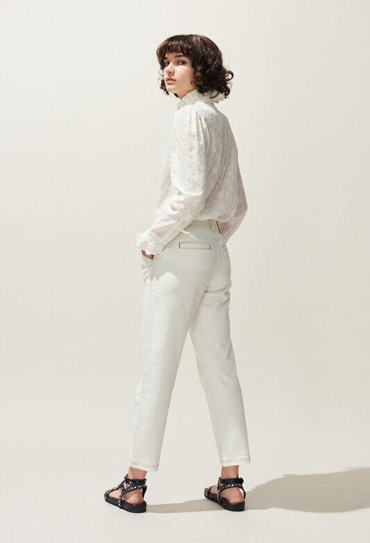 PECHE : Pantalones y vaqueros color NOIR