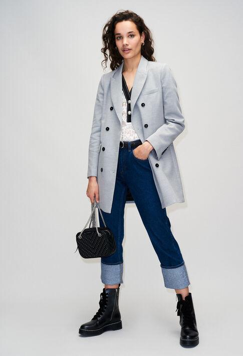 GINOH19 : Abrigos y chaquetas color GRIS CHINE CLAIR