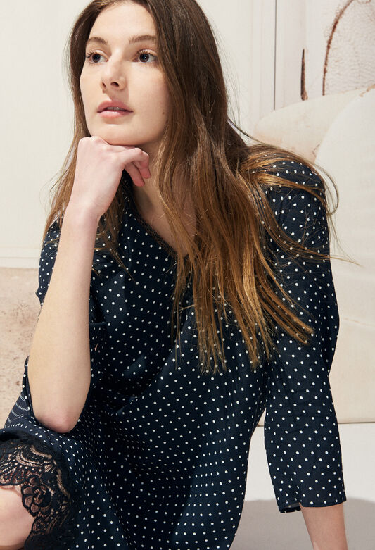 REAL POIS : Vestidos color MARINE