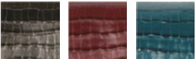 cuir de vachette embossage croco