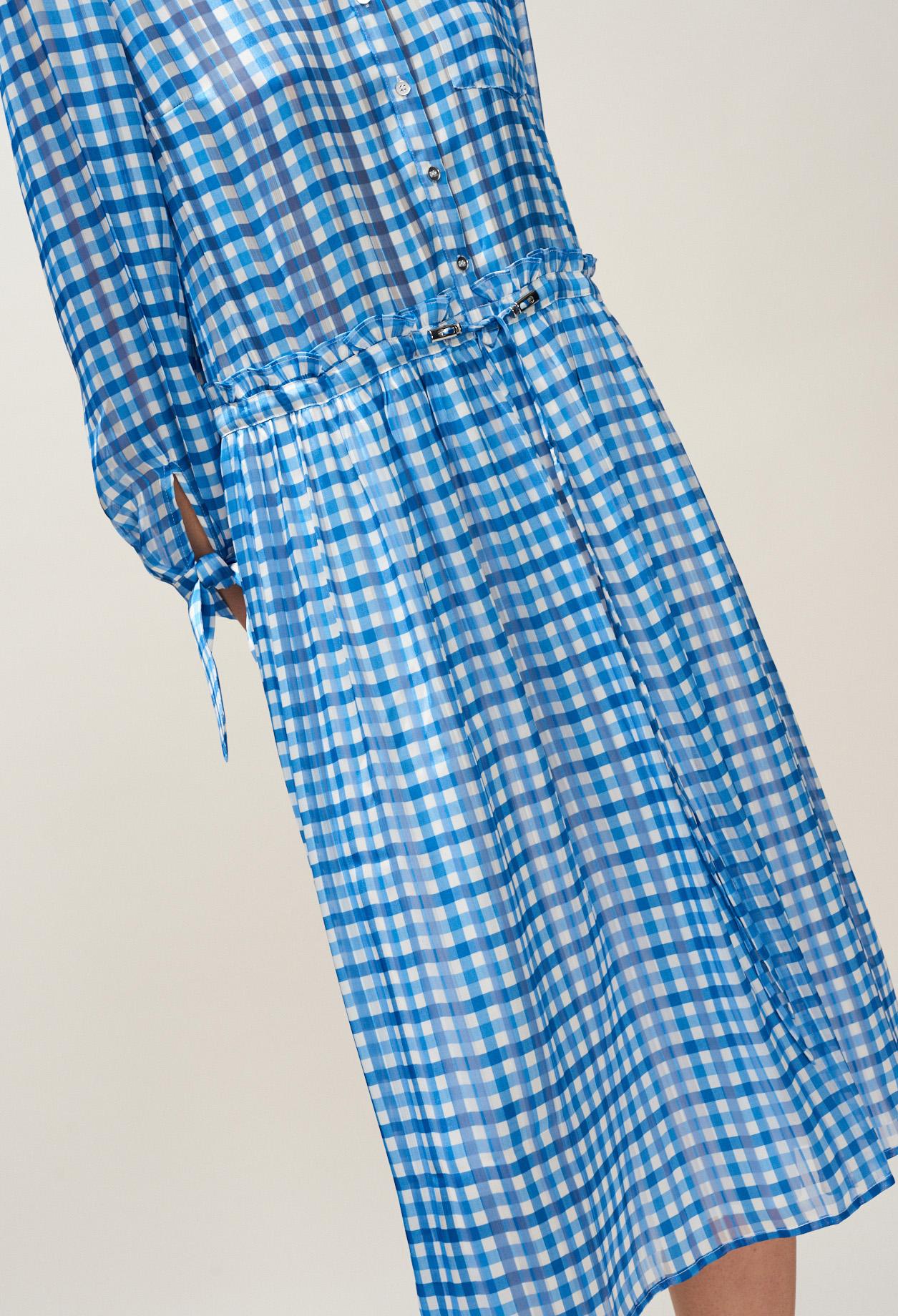 50328a044 Vestido estampado de Vichy largo midi